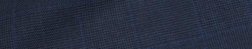 【Hre_9w03】ネイビー6.5×5.5cmグレンチェック+ブルーペーン