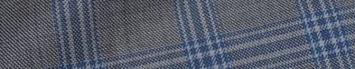 【Hre_9w16】グレー+5.5×4cmブルー・ライトグレーチェック