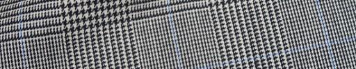 【Hre_9w45】白黒グレンチェック+7×5cmライトブルーペーン