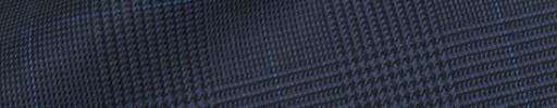 【Hre_9w46】ブルーグレー黒グレンチェック+7×5cmライトブルー×ブループレイド