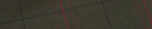 【Hs_m9w04】モスグリーン+6.5×5cm黒・赤茶チェック