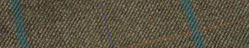 【Hs_m9w05】ブラウン+4×3cmグリーン・ブルー・パープル・ブラウンプレイド