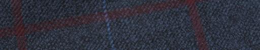 【Hs_m9w06】ブルーグレー+8×6.5cmエンジ・ブルーペーン