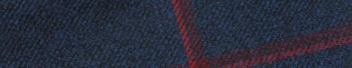 【Hs_m9w07】ネイビー+7×6cmエンジ・赤ペーン