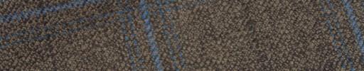 【Hs_m9w11】ブラウン+6.5×5cm水色・黒チェック