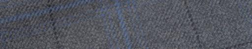 【Hs_m9w17】ミディアムグレー+6.5×5cm水色・グレーチェック