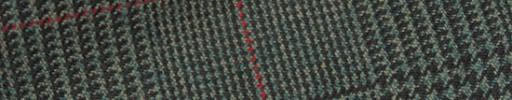 【Hs_m9w22】グリーングレンチェック+8×6.5cm赤ペーン