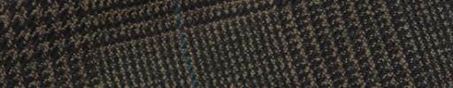 【Hs_m9w24】ブラウングレンチェック+8×6.5cmグリーンペーン