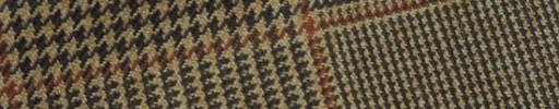 【Hs_m9w32】ブラウン13×11cmグレンプレイド+ライトブラウンペーン