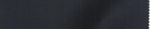 【Lan_9w05】ダークネイビー+1.4cm巾エンジストライプ