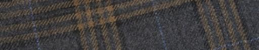 【W.b_9w01】チャコールグレー+7×6cmブラウンチェック+水色ペーン