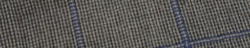 【W.b_9w03】アイボリー×グレーチェック+6×5cmブルーペーン