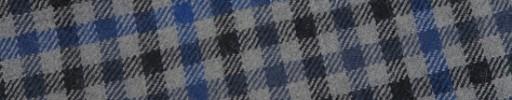 【W.b_9w07】ライトグレー×ブラック×ブルーグレーガンクラブチェック+8×6cmブルーペーン