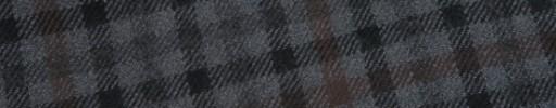 【W.b_9w09】ブルーグレー×ブラック×グレーガンクラブチェック+8×6cmレッドブラウンペーン