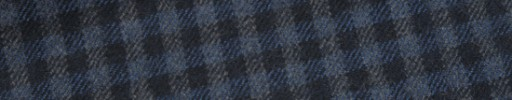 【W.b_9w11】ブルーグレー×ブラック×ライトブルーガンクラブチェック