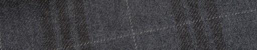 【W.b_9w33】ミディアムグレー+7.5×6.5cmブラウンチェック+白ペーン