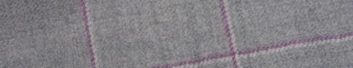【W.b_9w37】ライトグレー+6×5cmピンク・ホワイトペーン