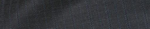 【Bhr_9w23】ミディアムグレー+1.3cm巾水色・織り交互ストライプ