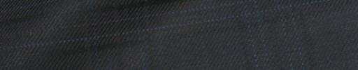 【Bhr_9w26】ブラック+7×4.5cm織り・水色チェック