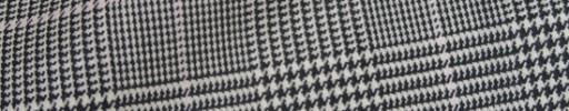 【Bhr_9w30】白黒グレンチェック+6×5cmペーン