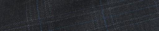 【Bsl_9w011】チャコールグレー4×3.5cm織り・ライトブルーチェック