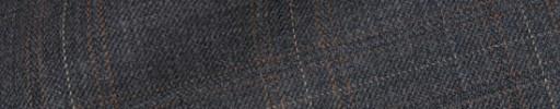 【Bsl_9w012】ミディアムグレー4×3.5cm織り・オレンジ・白チェック