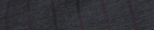 【Bsl_9w073】チャコールグレー+1.4cm巾エンジストライプ