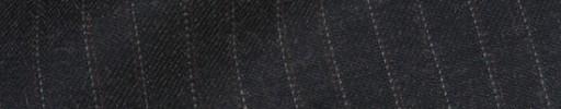 【Bsl_9w110】チャコールグレー+7ミリ巾ブラウン・白ドットストライプ