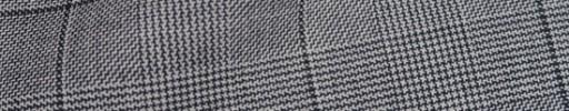 【Ha_8fc70】白黒グレンチェック6×5cm黒ペーン