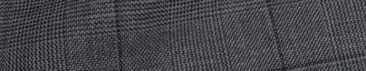 【Ha_8fc71】ミディアムグレーグレンチェック6×5cm黒ペーン