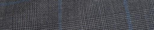 【Ha_8fc77】ミディアムグレーグレンチェック+6.5×5.5cm水色ペーン