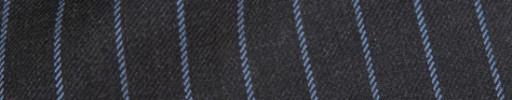 【Ha_8fc83】チャコールグレー+1.4cm巾ライトブルーストライプ