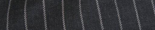 【Ha_8fc85】チャコールグレー+1.4cm巾白ストライプ
