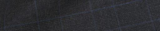 【Ha_prm58】チャコールグレー5×4cmグレンチェック+ブルーペーン