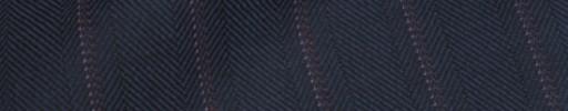 【Hs_ch9w04】ネイビーブロークンヘリンボーン+1.9cm巾エンジ・ピンクストライプ