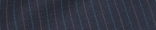 【Hs_ch9w05】ダークブルーグレー+1cm巾ピンク・ブルー交互ストライプ