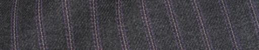 【Hs_ch9w07】チャコールグレー+1cm巾パープルストライプ
