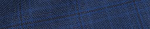 【Hs_ch9w21】ダークブルーチェック+5×3.5cm黒ペーン