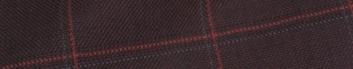【Hs_ch9w30】エンジ+5×4cm赤・グレーペーン