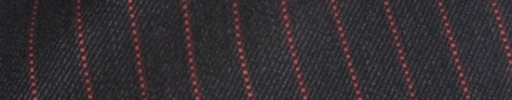 【Hs_ch9w31】チャコールグレー+1cm巾赤ドットストライプ