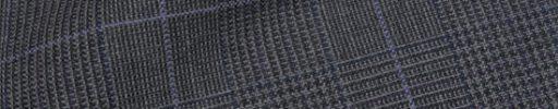 【Hs_9chs03】チャコールグレー5×4cmグレンチェック+パープルペーン