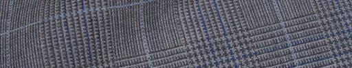 【Hs_9chs04】ライトグレー5×4cmグレンチェック+ライトブルー・ブルーペーン