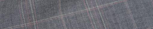 【Hs_9chs09】ライトグレー+5.5×4cmピンク・白チェック
