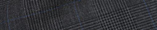 【Hs_9chs35】チャコールグレー5×4cmグレンチェック+ブルーペーン