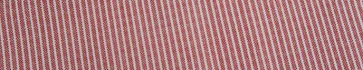 【Jp_0s018】ダスティーレッド+2ミリ巾白ストライプ