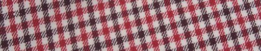 【Jp_0s024】白・赤・ブラウン1.3cm・1cmガンクラブチェック