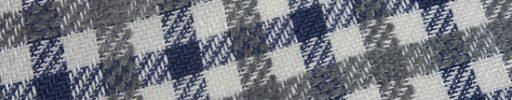 【Jp_0s060】ホワイト・ネイビーシェパードチェック+3cmグレーチェック