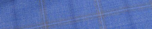 【Jp_0s072】ライトブルー+5×4.5cmブラウン・ネイビーチェック