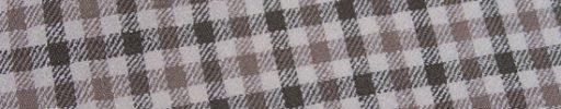 【Jp_0s082】オフホワイト+1.7cmカーキ・ベージュガンクラブチェック