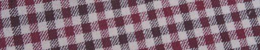 【Jp_0s083】オフホワイト+1.7cmワインレッド・ブラウンガンクラブチェック